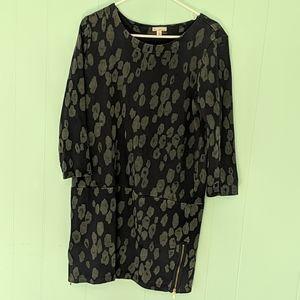 Gap Blue Cheetah Dress SZ M